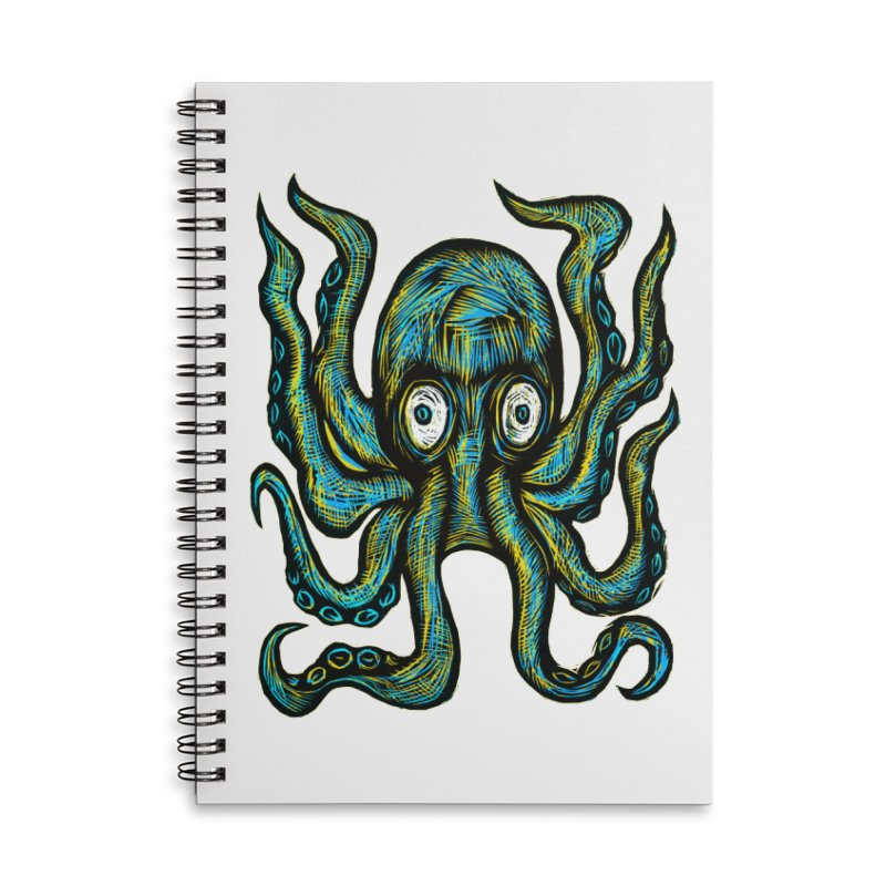 Octopus Accessories Lined Spiral Notebook by Sean StarWars' Artist Shop
