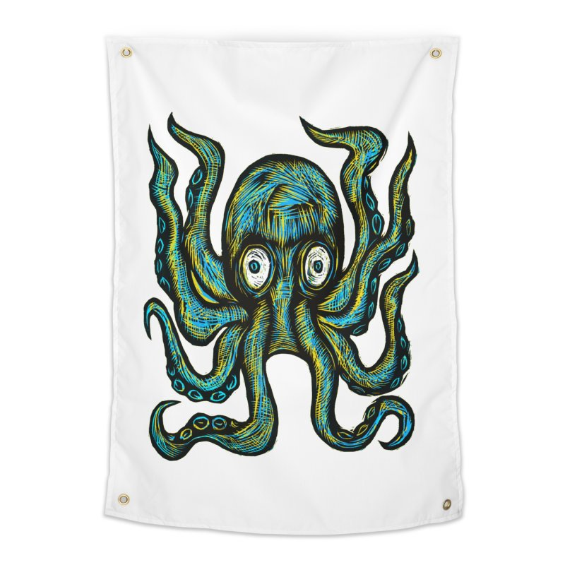 Octopus Home Tapestry by Sean StarWars' Artist Shop