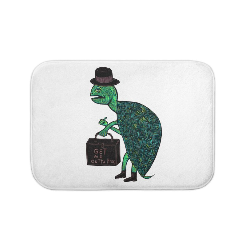 Tophat Turtle Home Bath Mat by Sean StarWars' Artist Shop