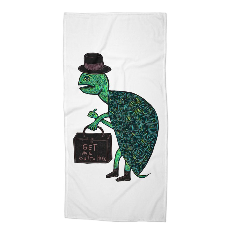 Tophat Turtle Accessories Beach Towel by Sean StarWars' Artist Shop