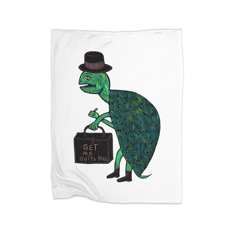 Tophat Turtle Home Blanket by Sean StarWars' Artist Shop