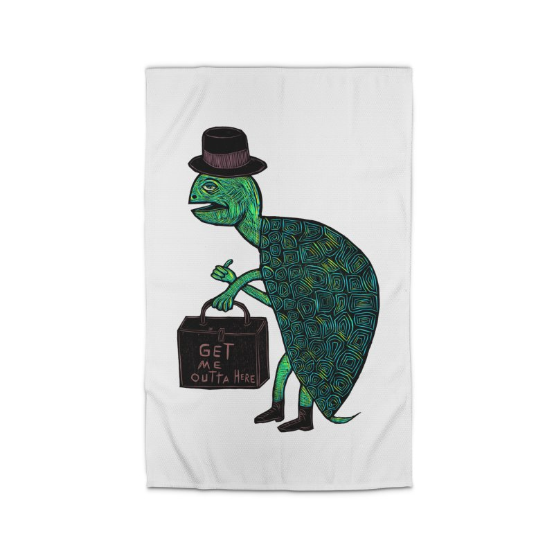Tophat Turtle Home Rug by Sean StarWars' Artist Shop