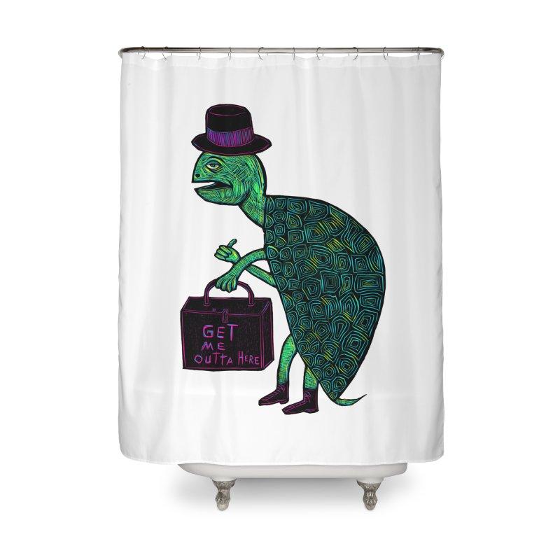 Tophat Turtle Home Shower Curtain by Sean StarWars' Artist Shop