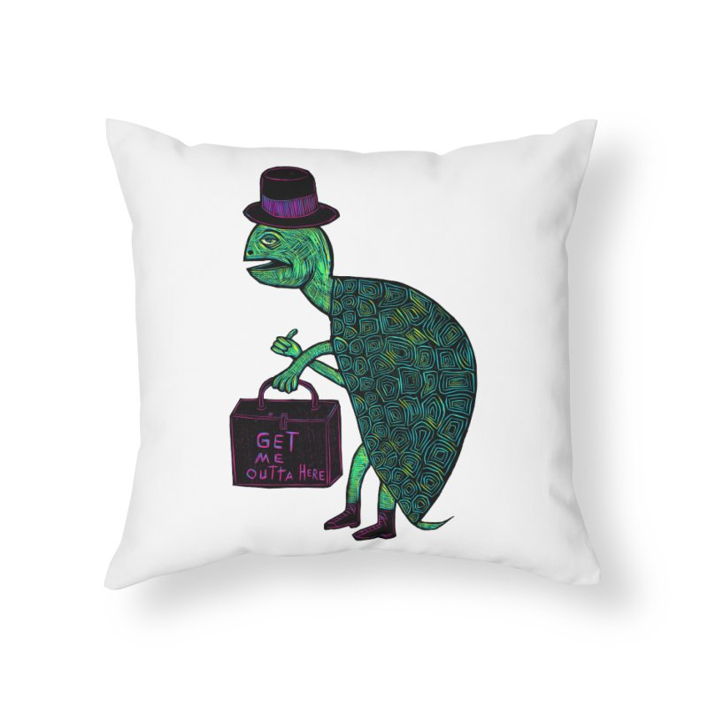 Tophat Turtle Home Throw Pillow by Sean StarWars' Artist Shop