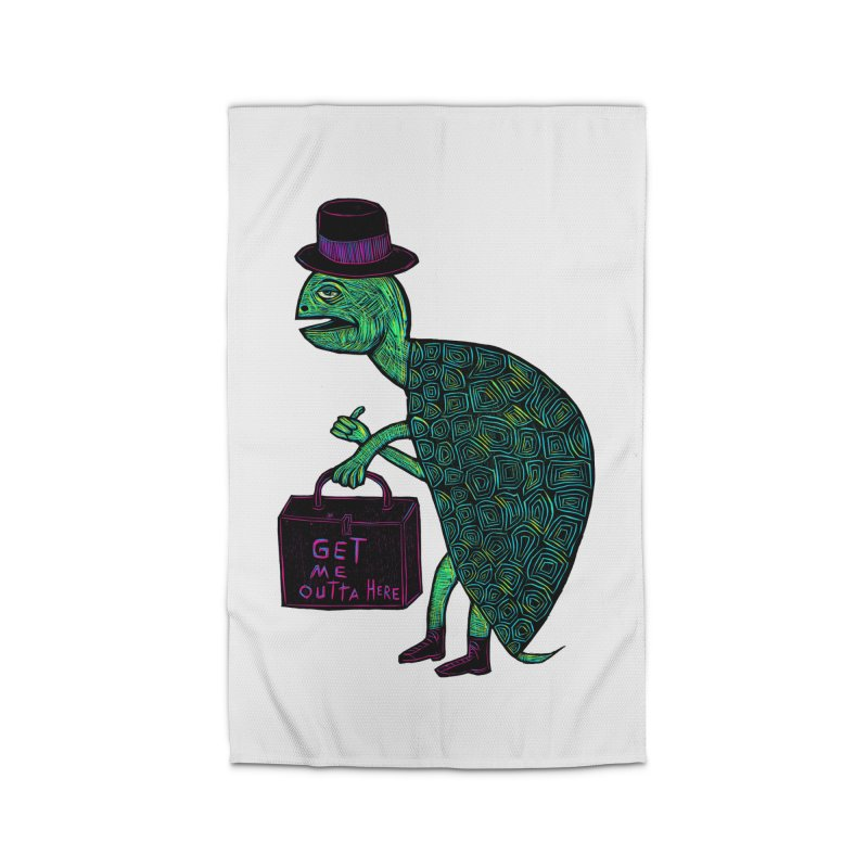 Tophat Turtle Home Rug by Sean StarWars' Artist Shop