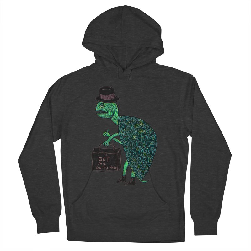 Tophat Turtle Men's French Terry Pullover Hoody by Sean StarWars' Artist Shop