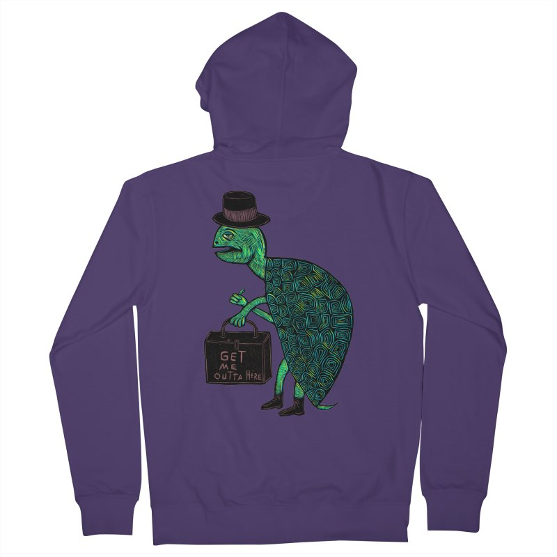 Tophat Turtle Women's French Terry Zip-Up Hoody by Sean StarWars' Artist Shop