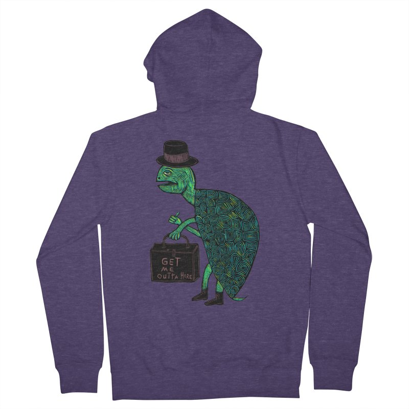 Tophat Turtle Men's French Terry Zip-Up Hoody by Sean StarWars' Artist Shop