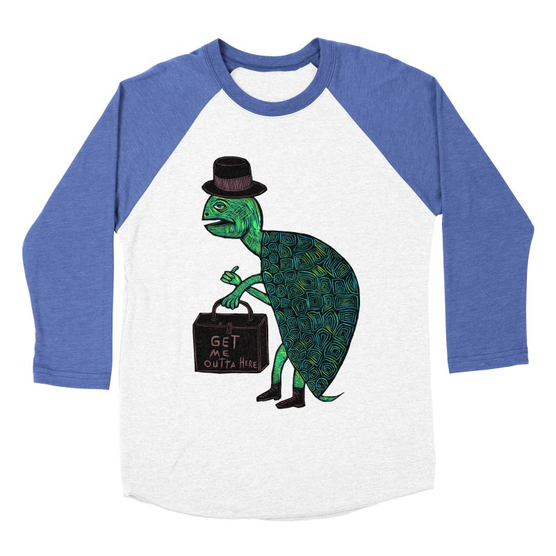 Tophat Turtle Women's Baseball Triblend T-Shirt by Sean StarWars' Artist Shop