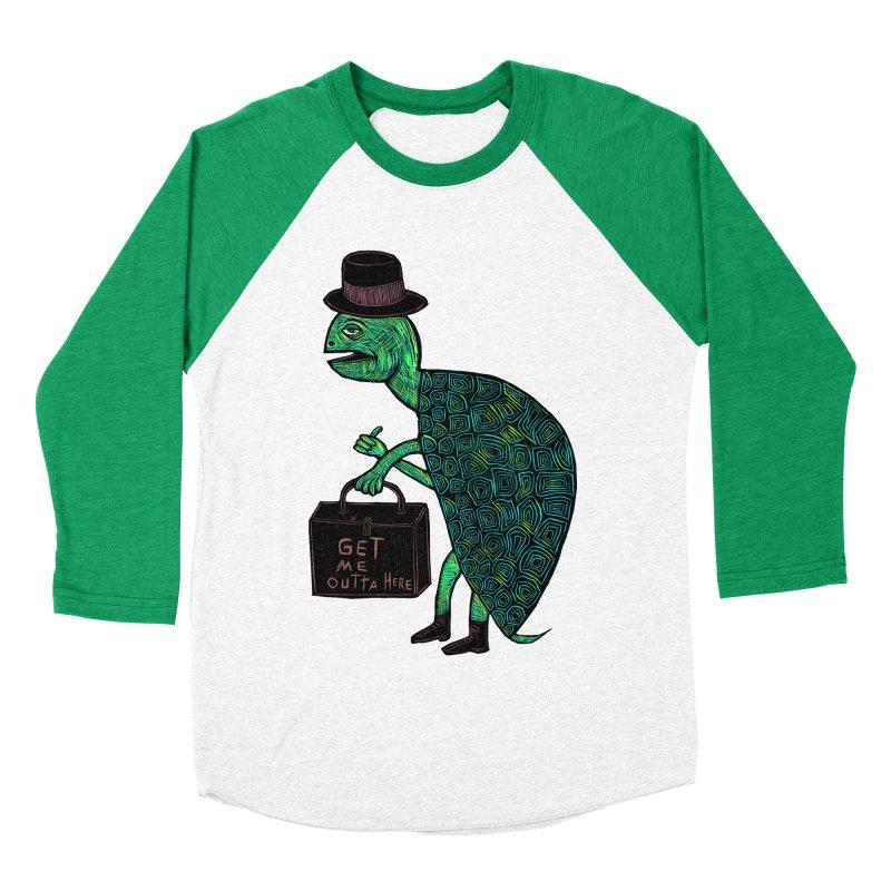 Tophat Turtle Women's Baseball Triblend Longsleeve T-Shirt by Sean StarWars' Artist Shop