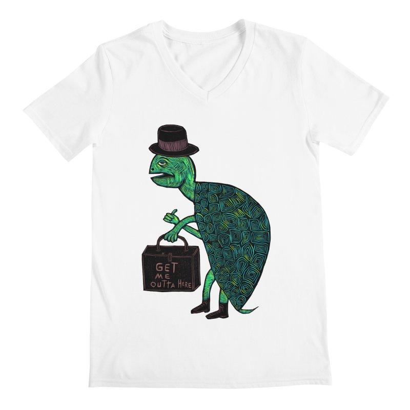 Tophat Turtle Men's V-Neck by Sean StarWars' Artist Shop