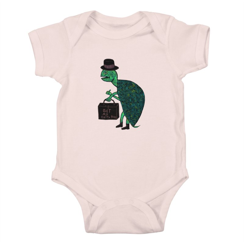 Tophat Turtle Kids Baby Bodysuit by Sean StarWars' Artist Shop