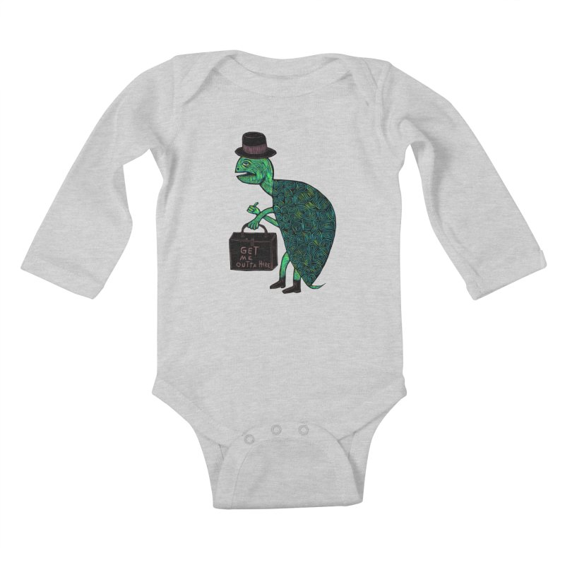 Tophat Turtle Kids Baby Longsleeve Bodysuit by Sean StarWars' Artist Shop