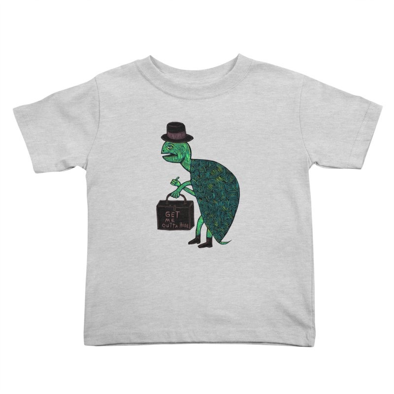 Tophat Turtle Kids Toddler T-Shirt by Sean StarWars' Artist Shop