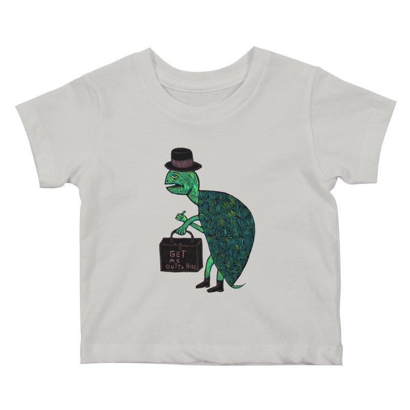 Tophat Turtle Kids Baby T-Shirt by Sean StarWars' Artist Shop