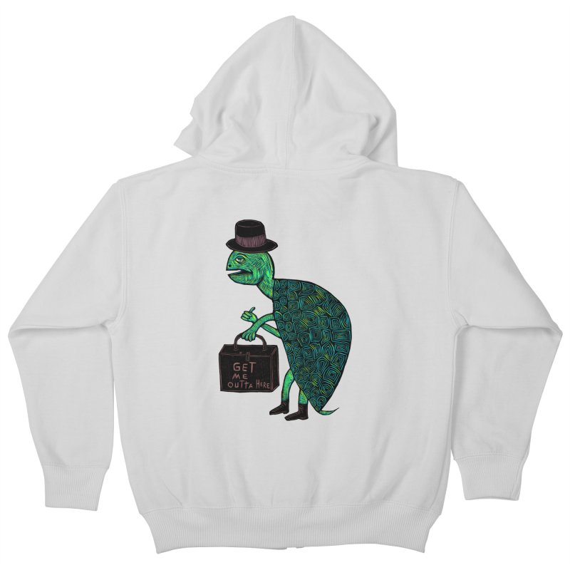 Tophat Turtle Kids Zip-Up Hoody by Sean StarWars' Artist Shop