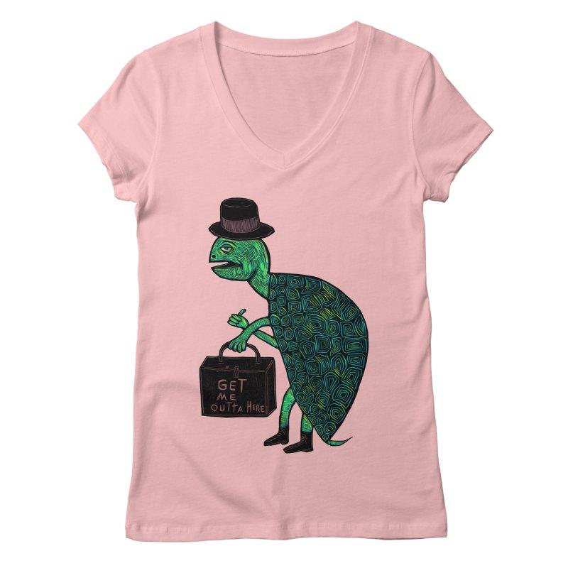 Tophat Turtle Women's V-Neck by Sean StarWars' Artist Shop
