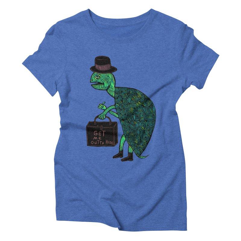 Tophat Turtle Women's Triblend T-Shirt by Sean StarWars' Artist Shop