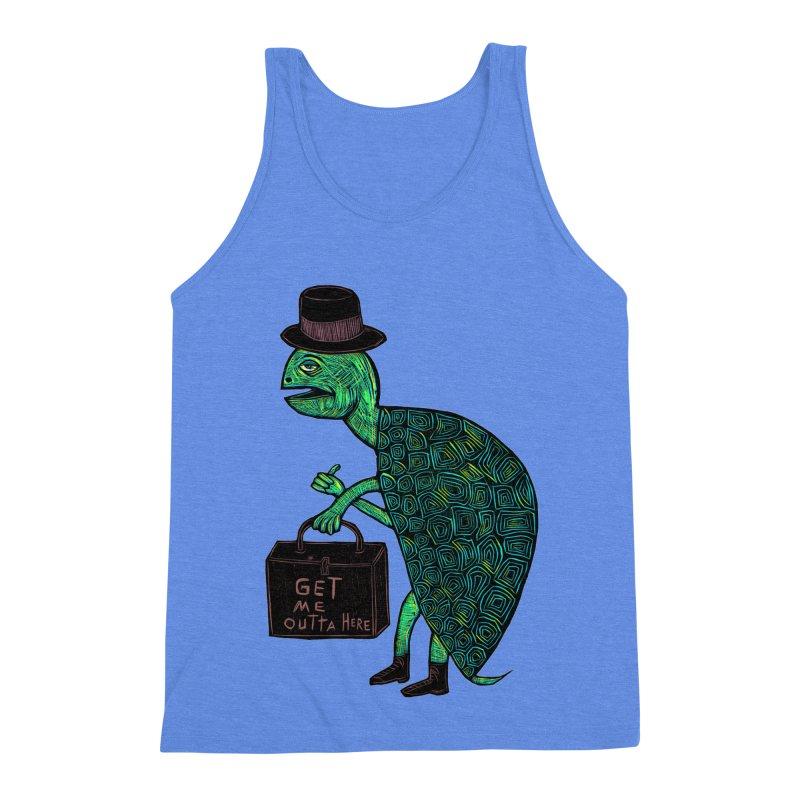 Tophat Turtle Men's Triblend Tank by Sean StarWars' Artist Shop