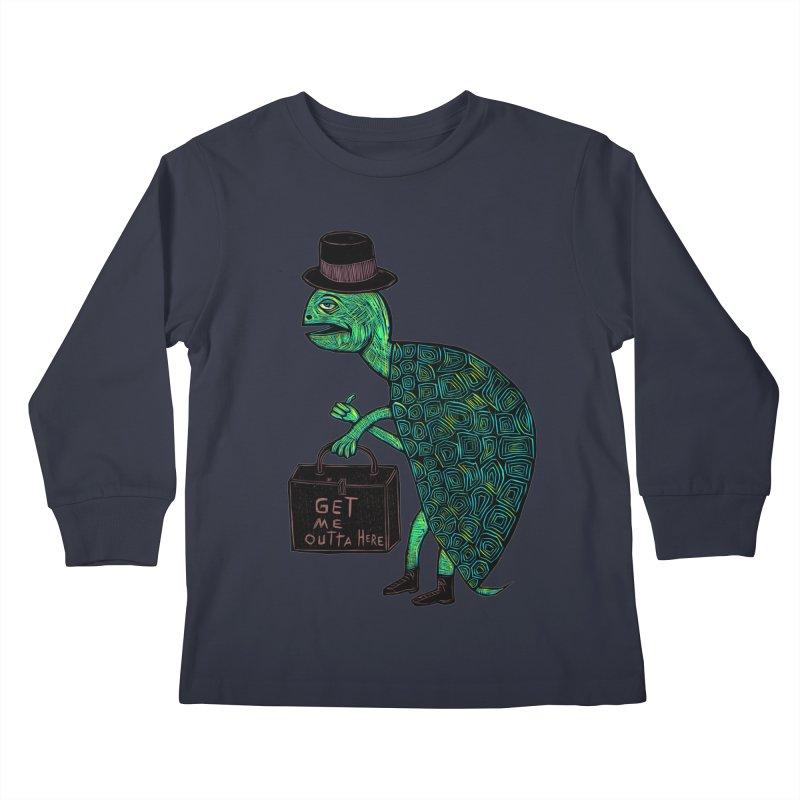 Tophat Turtle Kids Longsleeve T-Shirt by Sean StarWars' Artist Shop
