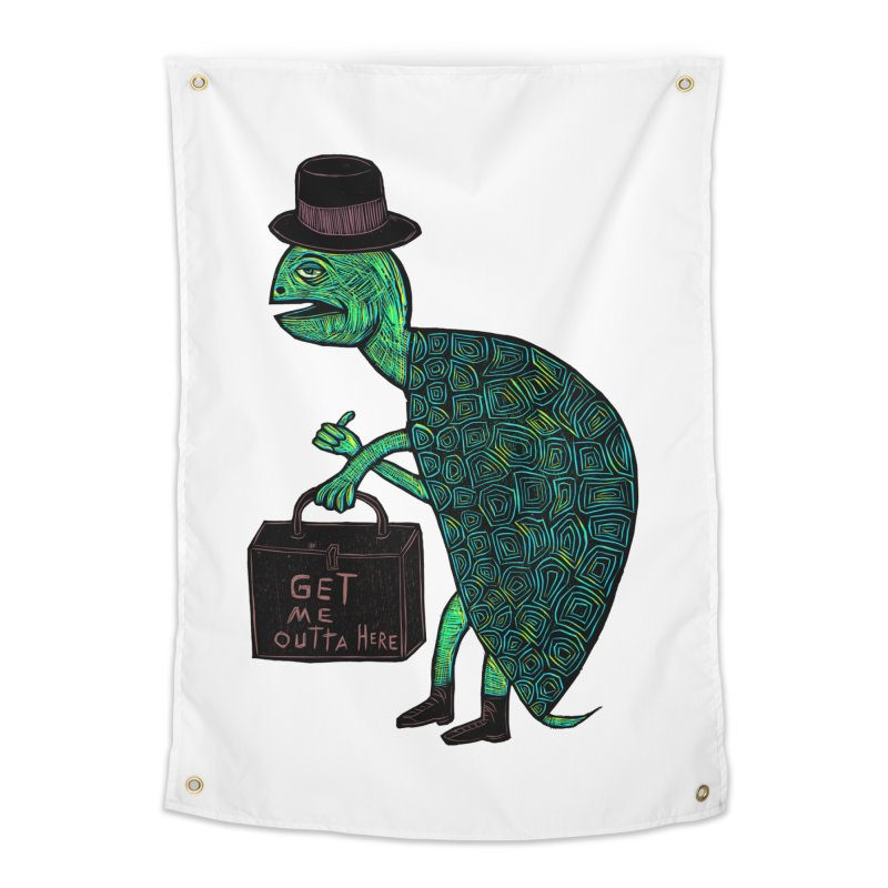 Tophat Turtle Home Tapestry by Sean StarWars' Artist Shop