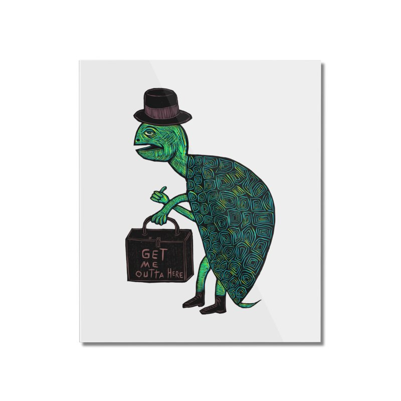 Tophat Turtle Home Mounted Acrylic Print by Sean StarWars' Artist Shop