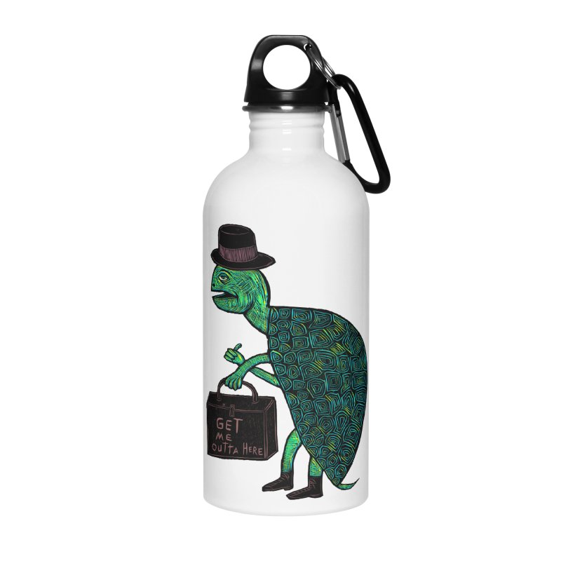 Tophat Turtle Accessories Water Bottle by Sean StarWars' Artist Shop