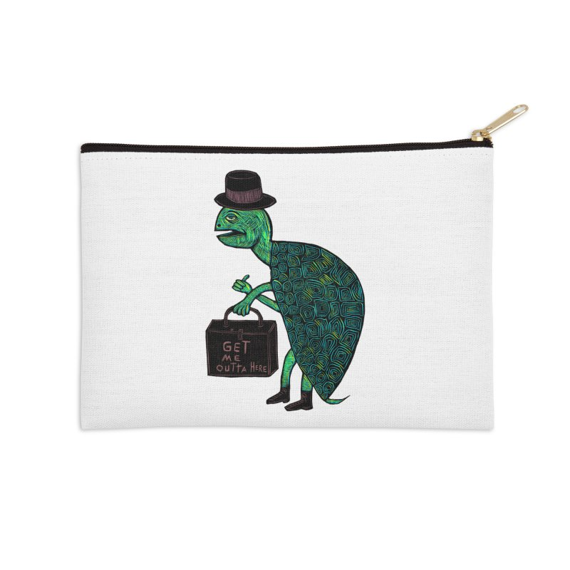Tophat Turtle Accessories Zip Pouch by Sean StarWars' Artist Shop