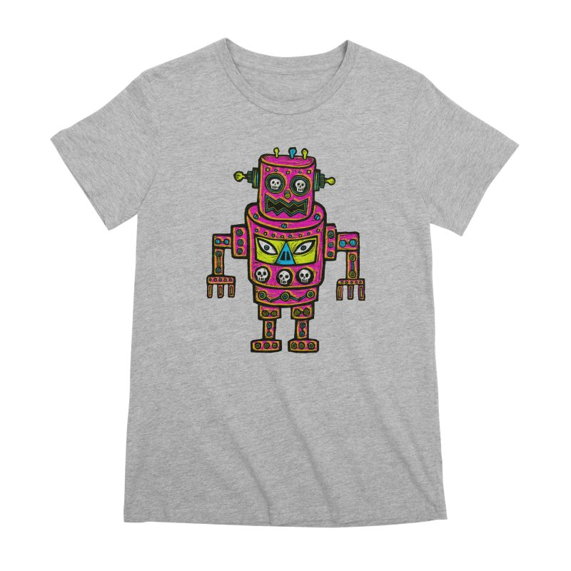 Skull Eyed Robot Women's Premium T-Shirt by Sean StarWars' Artist Shop