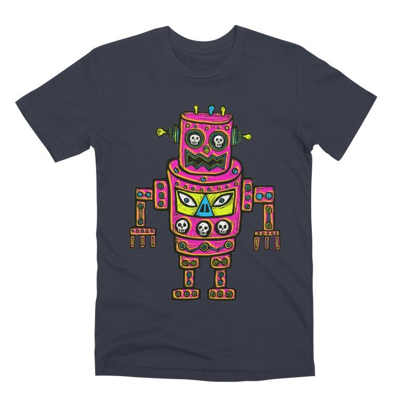 Skull Eyed Robot Men's Premium T-Shirt by Sean StarWars' Artist Shop