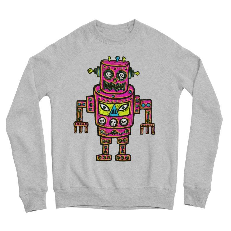 Skull Eyed Robot Women's Sponge Fleece Sweatshirt by Sean StarWars' Artist Shop