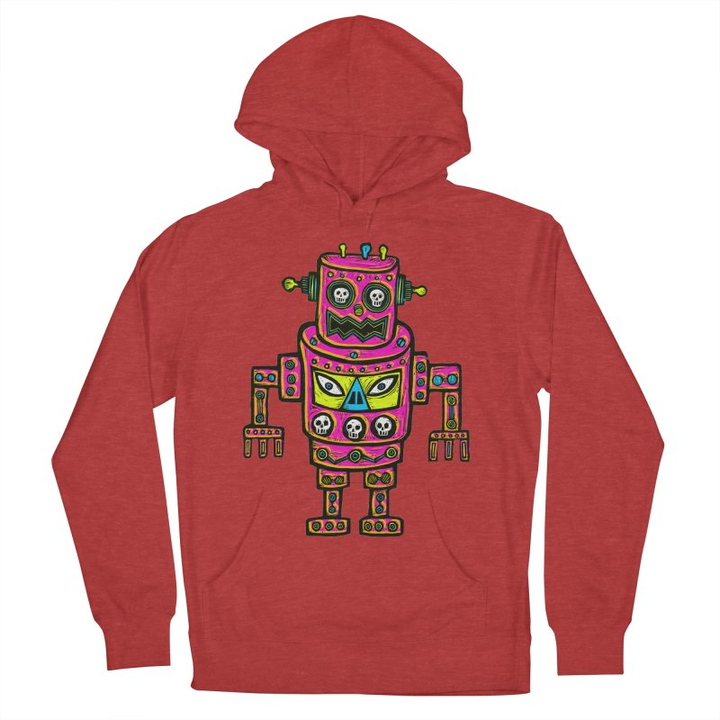 Skull Eyed Robot Women's French Terry Pullover Hoody by Sean StarWars' Artist Shop