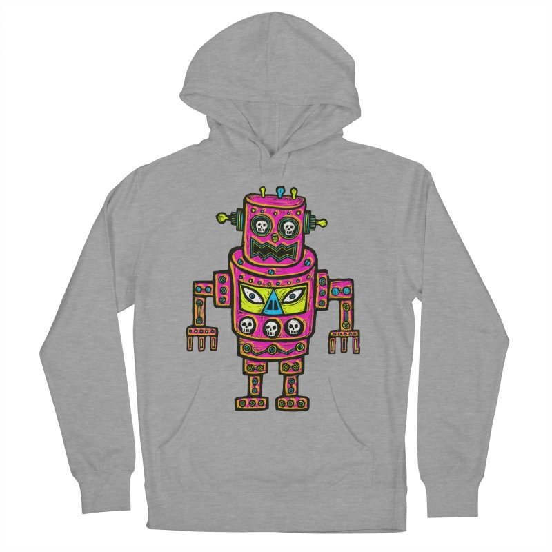 Skull Eyed Robot Men's French Terry Pullover Hoody by Sean StarWars' Artist Shop