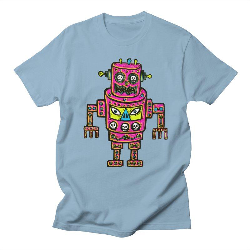 Skull Eyed Robot Men's Regular T-Shirt by Sean StarWars' Artist Shop