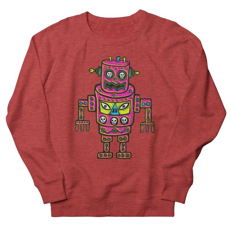Skull Eyed Robot Men's French Terry Sweatshirt by Sean StarWars' Artist Shop