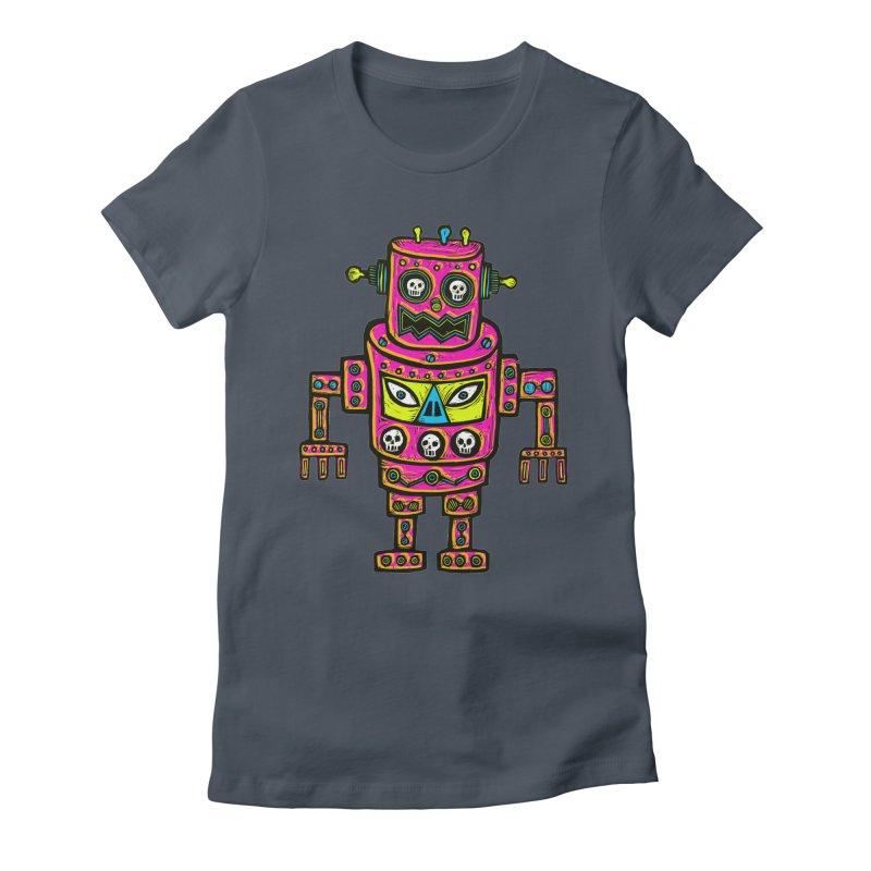 Skull Eyed Robot Women's T-Shirt by Sean StarWars' Artist Shop