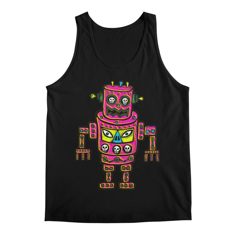 Skull Eyed Robot Men's Regular Tank by Sean StarWars' Artist Shop