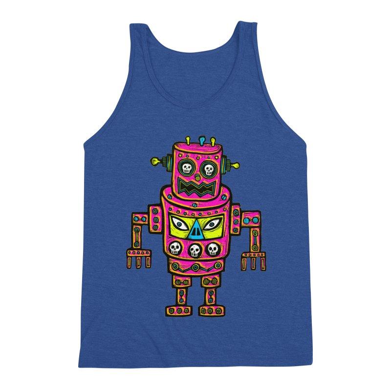 Skull Eyed Robot Men's Triblend Tank by Sean StarWars' Artist Shop