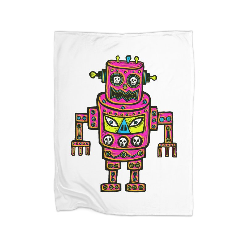 Skull Eyed Robot Home Blanket by Sean StarWars' Artist Shop