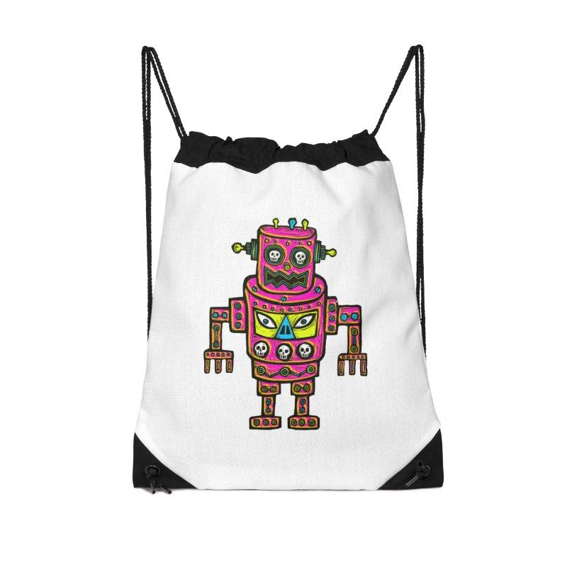 Skull Eyed Robot Accessories Bag by Sean StarWars' Artist Shop