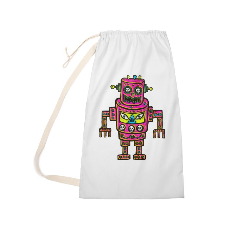 Skull Eyed Robot Accessories Laundry Bag Bag by Sean StarWars' Artist Shop