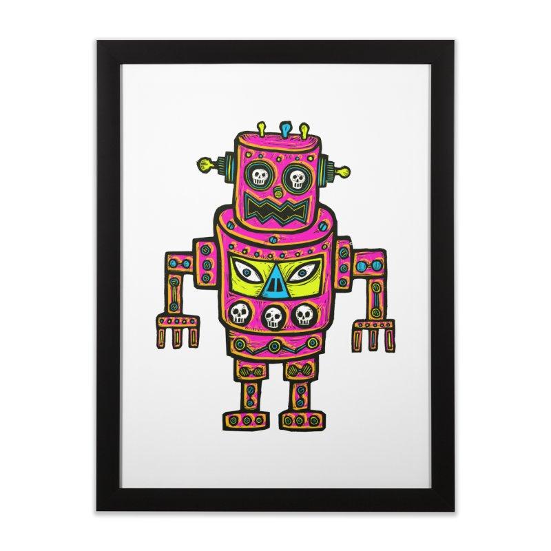 Skull Eyed Robot Home Framed Fine Art Print by Sean StarWars' Artist Shop