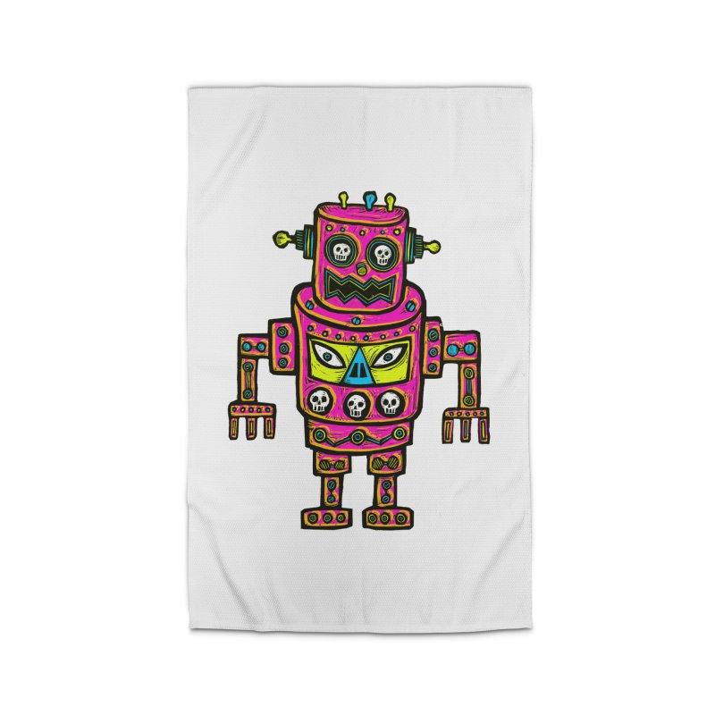 Skull Eyed Robot Home Rug by Sean StarWars' Artist Shop