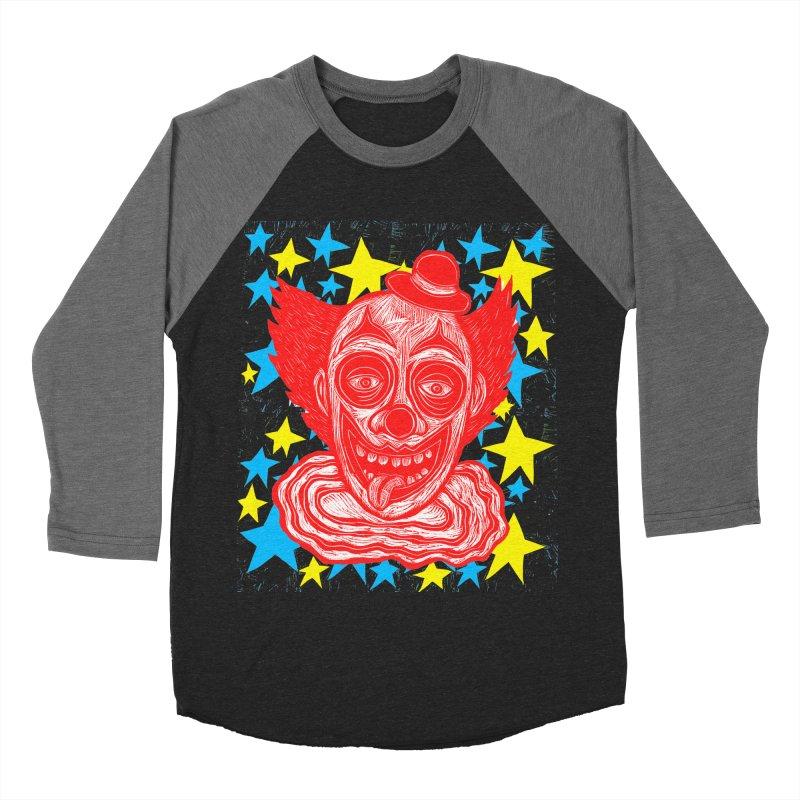 Clown Women's Baseball Triblend T-Shirt by Sean StarWars' Artist Shop
