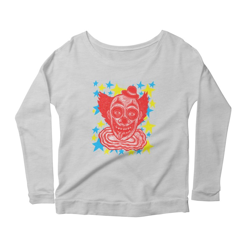 Clown Women's Longsleeve Scoopneck  by Sean StarWars' Artist Shop