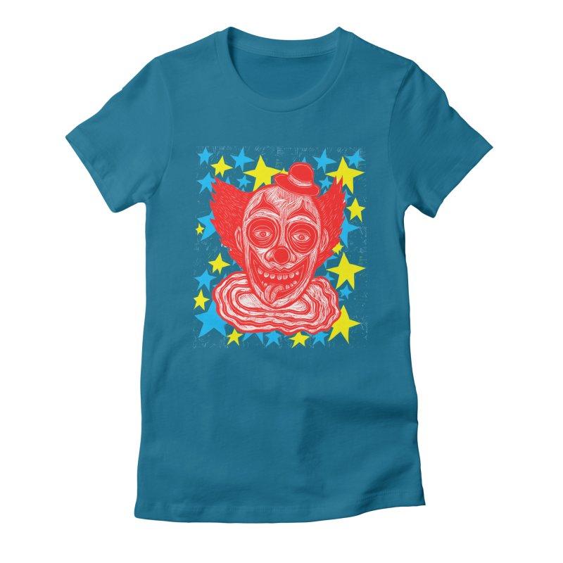 Clown Women's Fitted T-Shirt by Sean StarWars' Artist Shop