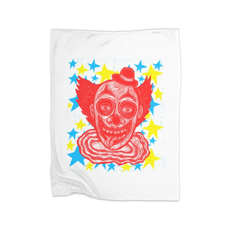 Clown Home Blanket by Sean StarWars' Artist Shop