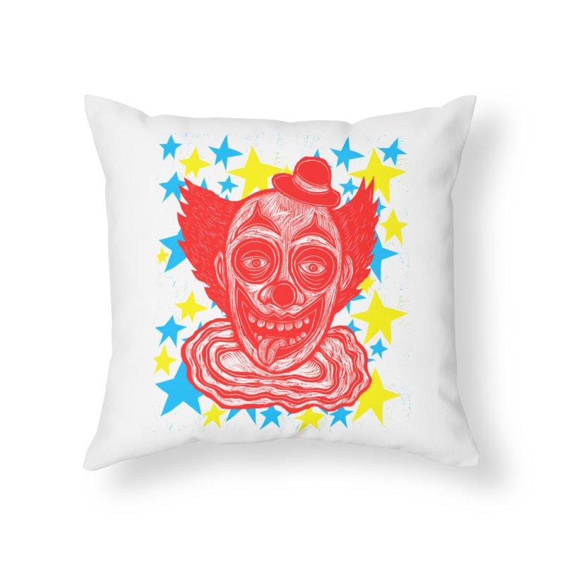 Clown Home Throw Pillow by Sean StarWars' Artist Shop