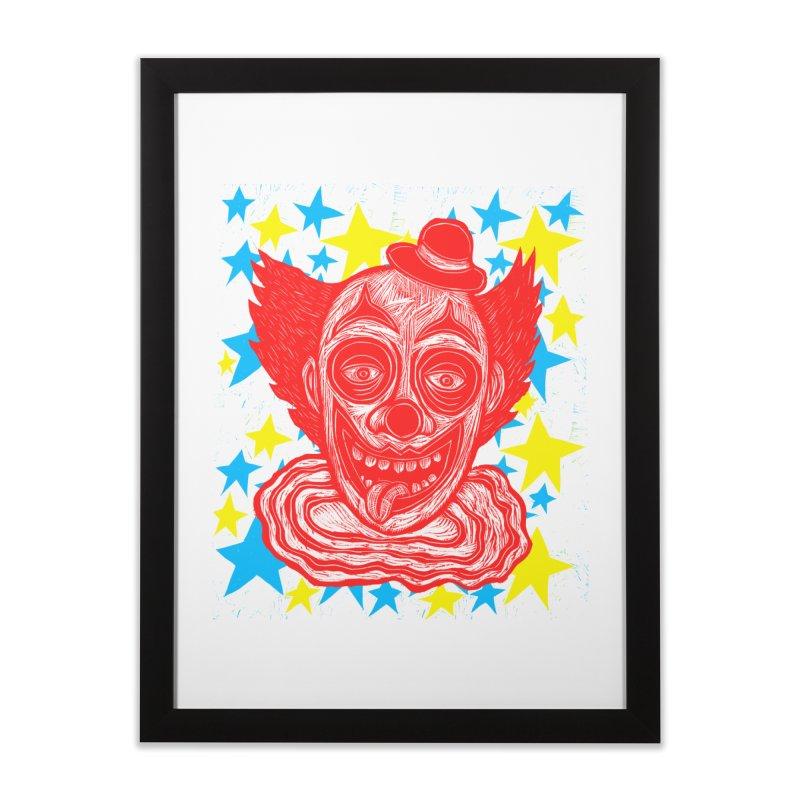 Clown Home Framed Fine Art Print by Sean StarWars' Artist Shop