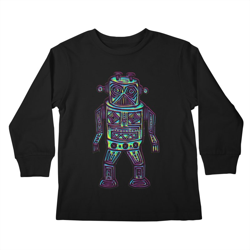 Robot z2 Kids Longsleeve T-Shirt by Sean StarWars' Artist Shop